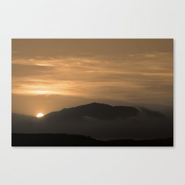 dull evening Canvas Print