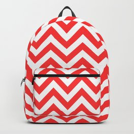 Coral Chevron Backpack