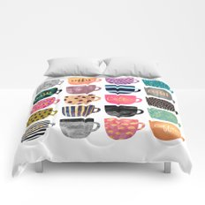 Pretty Coffee Cups Comforters