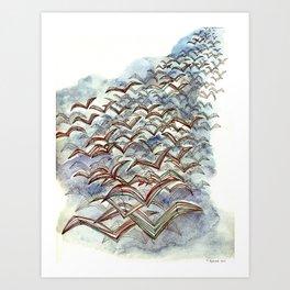 The Flock. Art Print