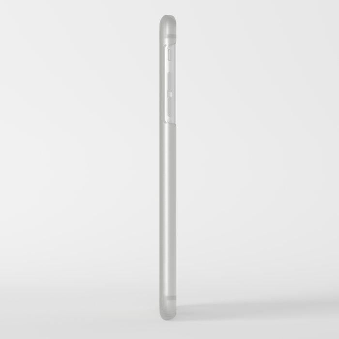 White Reflection Clear iPhone Case