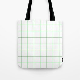 Graph Paper (Green & White Pattern) Tote Bag
