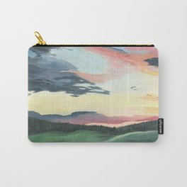 Sunset over Yellowstone Carry-All Pouch