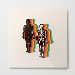 Retro Rainbow Meditations Metal Print