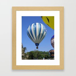Hot Air Balloons Rising  Framed Art Print