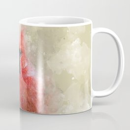 Northern Cardinal Watercolor Splatter Coffee Mug