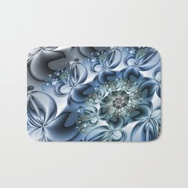 Dynamic Spiral, Abstract Fractal Art Bath Mat