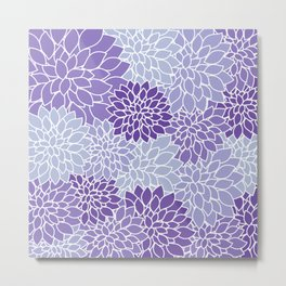 Ultra Violet Lavender Dahlias Metal Print