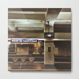 Porte de Saint-Cloud Metal Print