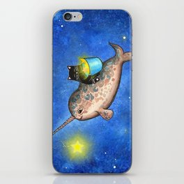 Hanging Stars with a Friendly Narwhal iPhone Skin
