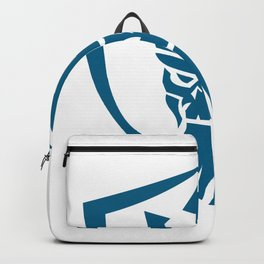 Neptune Skull Trident Crown Crest Icon Backpack