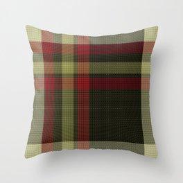 Colors Of Christmas (Plaid) Throw Pillow