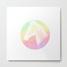 Rainbow Unicorn Metal Print