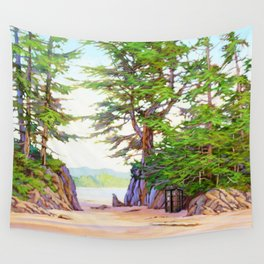 Tardis Stay In The Beach Wall Tapestry