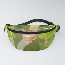 Tropical Jungle with red tiger cat Fanny Pack