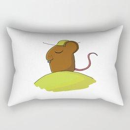 tired mouse Rectangular Pillow