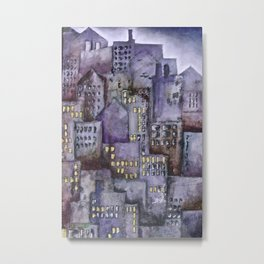 City (from original acrylic painting) Metal Print