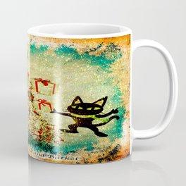 Mr. Bone, Whim and the Evil Flower Bug wish you a merry Christmas Coffee Mug
