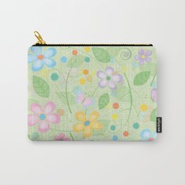 Floral and Butterfly Pattern - Spring Blossom Carry-All Pouch
