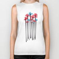 tulip Biker Tanks featuring Tulip by GabrieleCigna
