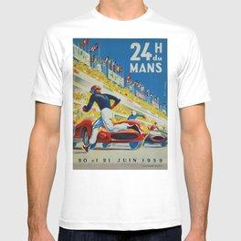 24hs Le Mans, 1959, vintage poster T-shirt