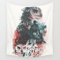 lynch Wall Tapestries featuring Not What They Seem Inspired by Twin Peaks by Barrett Biggers