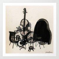 Musical Chairs Art Print