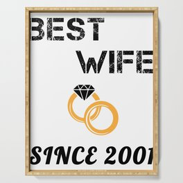 Wife 18th Anniversary Gift, Women's Wedding Present Graphic Serving Tray