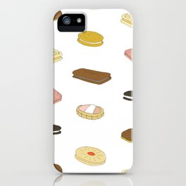 biscui - biscuit pattern iPhone Case