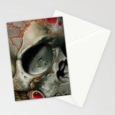 small bio skull Stationery Cards