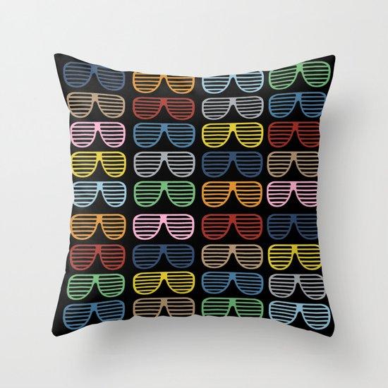 Rainbow Shutter Shades at Night Throw Pillow