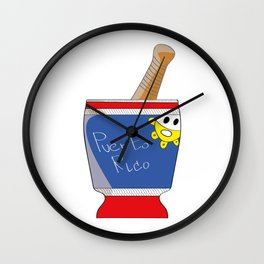 PILON PUERTO RICO Wall Clock