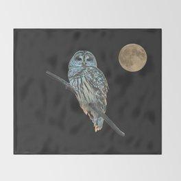 Owl, See the Moon Throw Blanket