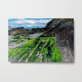 Green beach Metal Print