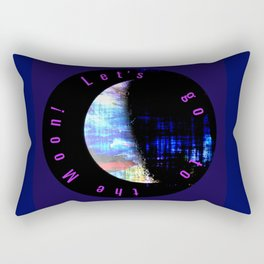 Let's to to the Moon! Rectangular Pillow