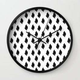Falling for you black and white pattern Wall Clock