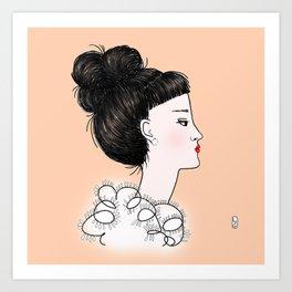 cuty orange Art Print