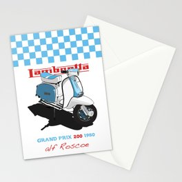 BLUE LAMBRETTA SCOOTER Stationery Cards