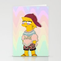 simpson Stationery Cards featuring chic lisa simpson by Sara Eshak