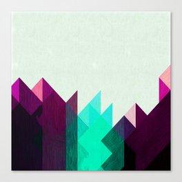 Purple Peaks Canvas Print