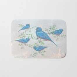 """ Bluebirds "" Bath Mat"