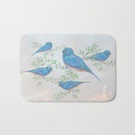 """"""" Bluebirds """" Bath Mat"""