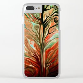 Surreal tree Clear iPhone Case