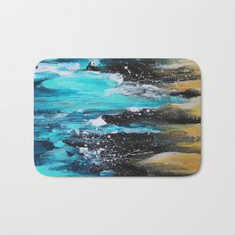 The Salty Sea Abstract Landscape Bath Mat