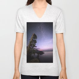 Crater Lake Glow Unisex V-Neck