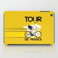 tour de france iPad Cases featuring Tour De France by Wyatt Design
