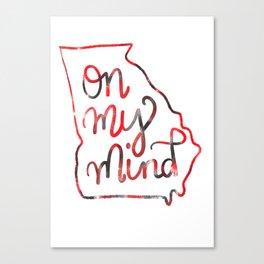GEORGIA - on my mind Canvas Print