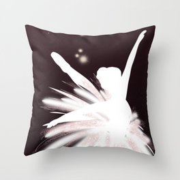 Space Ballerina (2 of 3) Throw Pillow