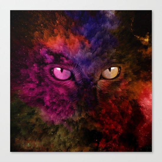 Galactic cat Canvas Print