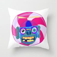 CANDYADDICT MONKEY Throw Pillow